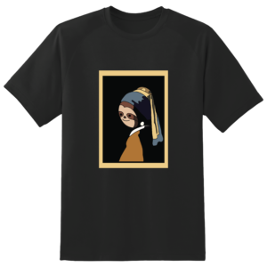 Tricou personalizat: Sloth with a pearl earring