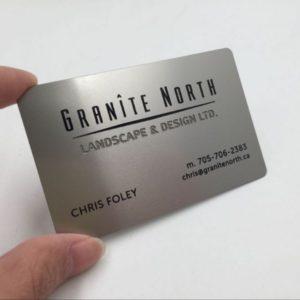 Carti de vizita metalice