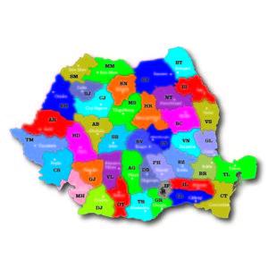 Harta Romaniei puzzle magnetic printat UV.