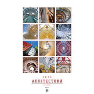 Calendar de perete Arhitectura personalizabil folio, timbru sec, print UV sau gravare laser.