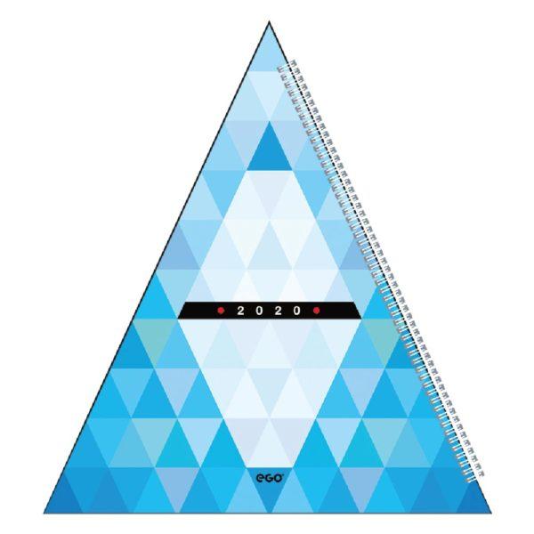 Calendar de birou Piramida personalizabil folio, timbru sec, print UV sau gravare laser.