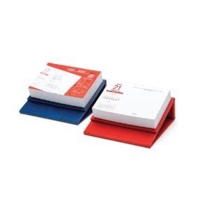 Calendar de birou Uno personalizabil folio, timbru sec, print UV sau gravare laser.
