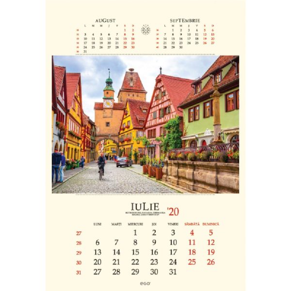 Calendar de perete Strazi personalizabil folio, timbru sec, print UV sau gravare laser.