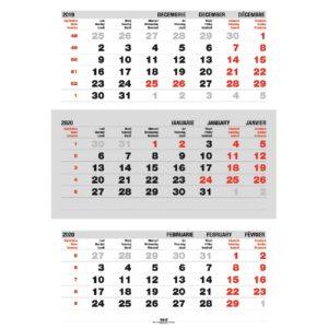 Calendar Triptic Pliat personalizabil folio, timbru sec, print UV sau gravare laser.