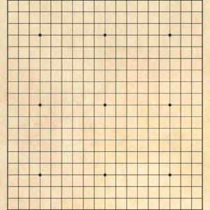 Tabla de Go ieftina 19x19 linii, MDF gravat laser