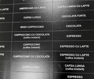 Etichete aparat cafea