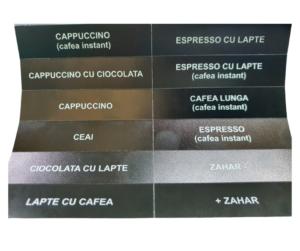 Etichete automat cafea