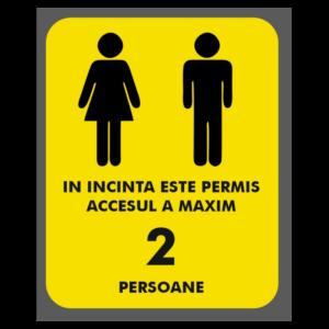 Afis Covid-19: acces persoane