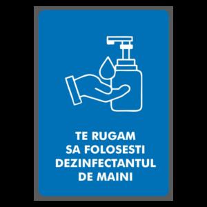 Afis: foloseste dezinfectant