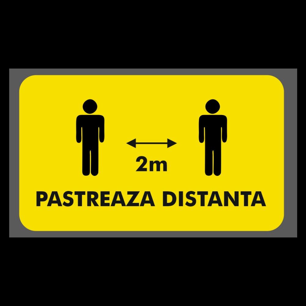 Afis Covid-19: pastreaza distanta (2m)
