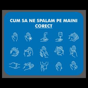 Afis Covid-19: spala-te pe maini corect