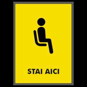 Sticker Covid-19: stai aici