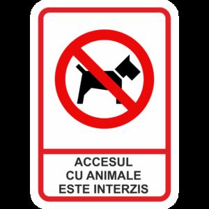Afis Accesul cu animale interzis