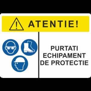 Afis SSM Echipament de protectie