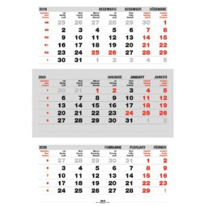 Calendare triptic