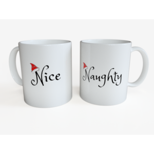 Set 2 cani de Craciun - Naughty & Nice