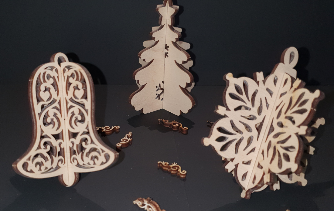 Decoratiuni de Craciun din lemn